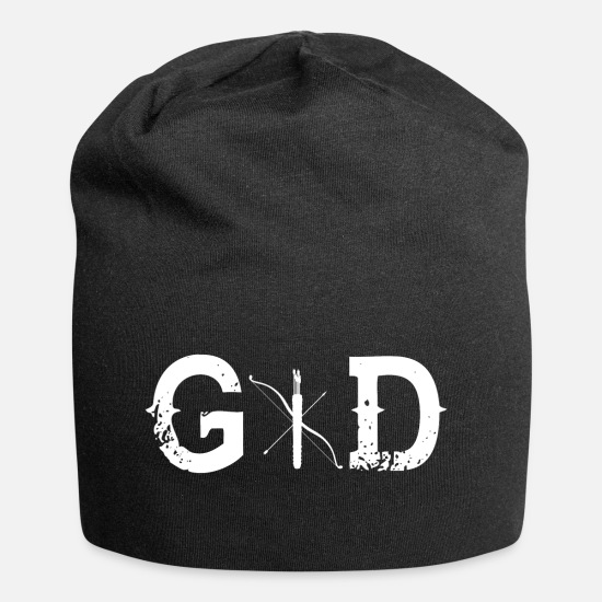 Birthday Caps & Hats - God Legend God bow shooting bow - Beanie black