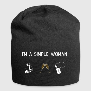 I am a simple woman - Muscles champagne Vape - Jersey Beanie