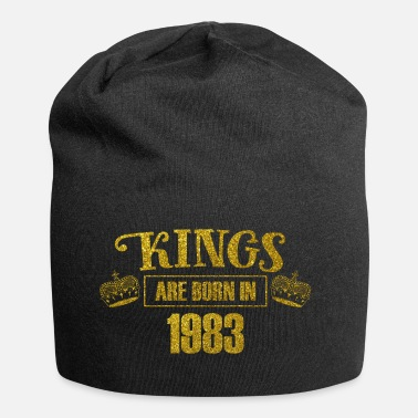 Dezember kings are born in 1983 - Geburtstag Koenig Gold - Jersey-Beanie