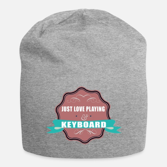 Keyboard Caps & Hats - Keyboard teacher - Beanie heather grey