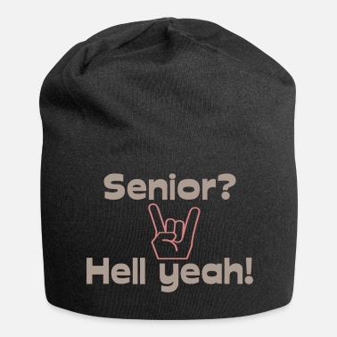 Senioren Funny Senior Design Senioren Rock - Jersey-Beanie
