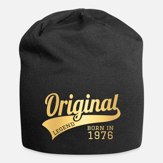 1976 Caps & Hats - 1976 76 Present Bday Birthday Present Gift - Beanie black