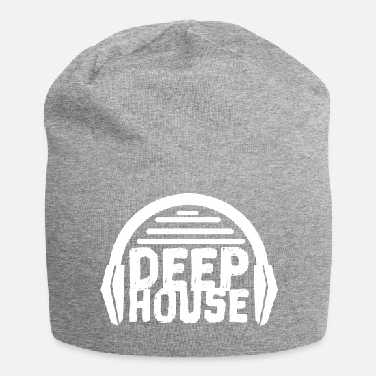 House Music Caps & Mützen - Deep House - Beanie Grau meliert