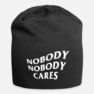 Satyr Nobody Cares Quote Graphic - Beanie