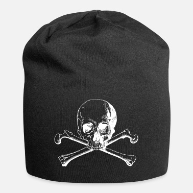 Skull with crossbones - Jersey Beanie