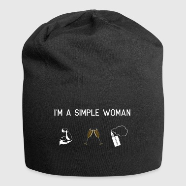 Vape I am a simple woman - Muscles champagne Vape - Jersey Beanie