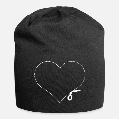 plantilla de corte del corazón corte del corazón - Beanie. delante c7e415beb8a