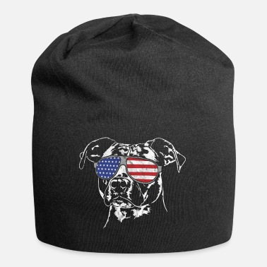 American American Staffordshire Terrier American Flag - Jersey-beanie
