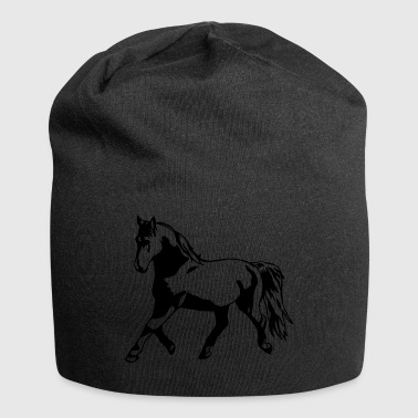 Proud, gathered horse in trot - Jersey Beanie