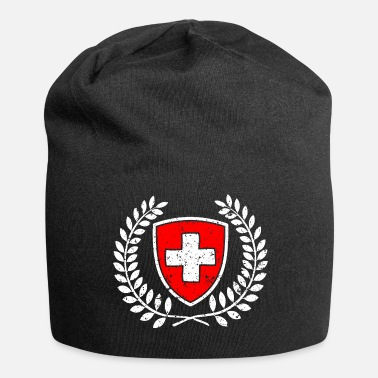 Swiss Cross Swiss coat of arms red-white with cross gift - Jersey Beanie