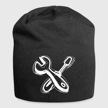 Spanner and open-end wrench as a gift idea - Jersey Beanie