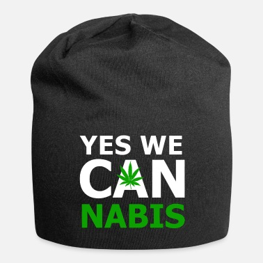 Yes Yes we can cannabis - Jersey Beanie