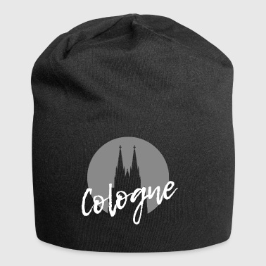 Cologne Cologne Cologne Cathedral with modern writing - Jersey Beanie