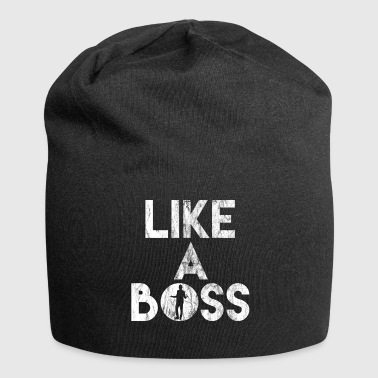 Like A Boss Shirt - Gift - Beanie in jersey