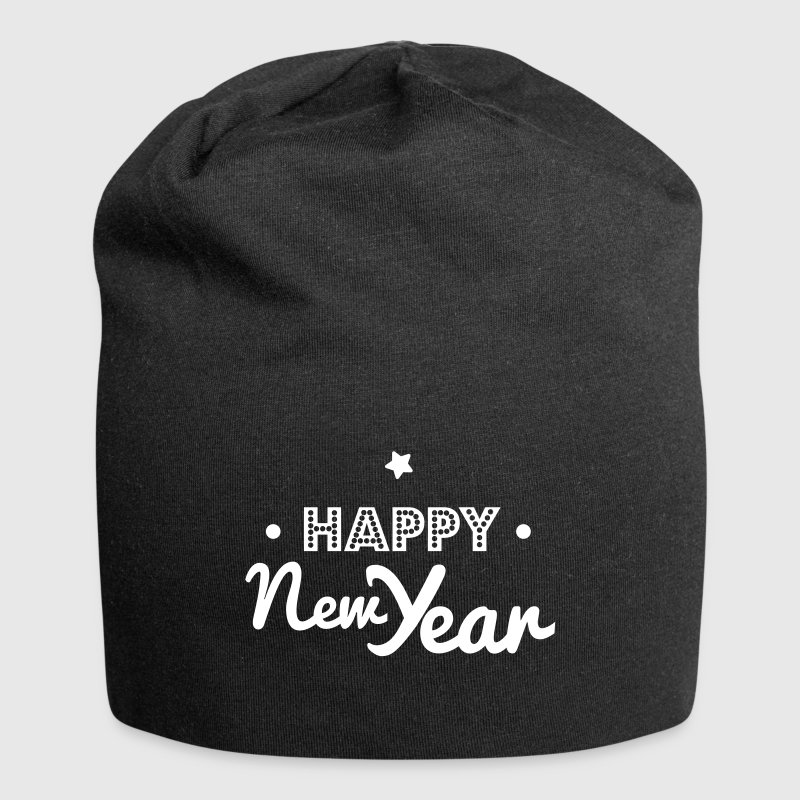 happy new year - Gorro holgado de tela de jersey