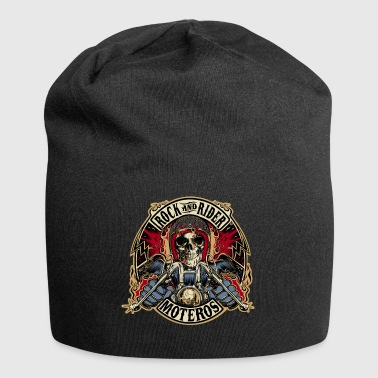 Rock And Rider Moteros Skull Color - Gorro holgado de tela de jersey