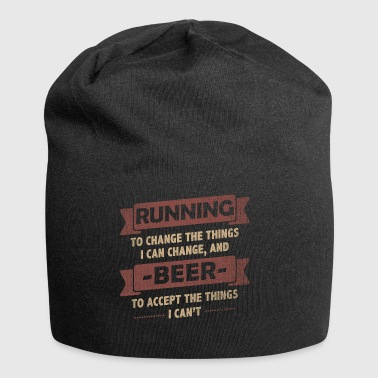 Funny Quotes> Running + Beer - Jersey-Beanie