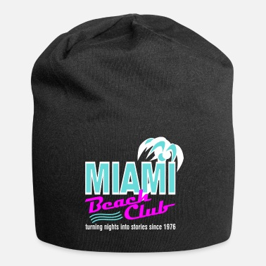 Print Miami Beach Club Palm - Jersey-Beanie