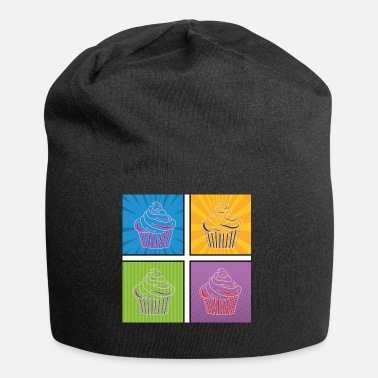 Graphic Art Pop Art / Graphic Novel: Cupcake - Jersey-Beanie