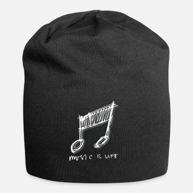 Musical Instrument Sheet music Music passion instruments - Beanie