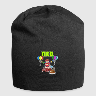 Nico Fire Department Nico gift - Jersey Beanie