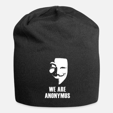 Anonymous anonymus Maske anti Demo politisch illluminati fun - Beanie