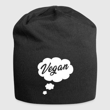 Vegan - thought bubble - Jersey Beanie