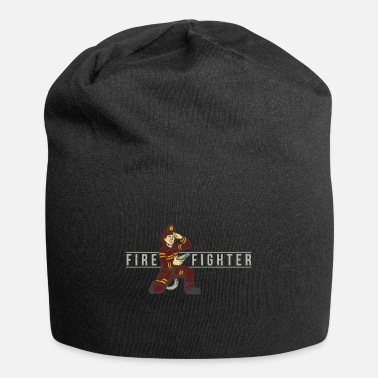 Police Firefighters man THW police save gift idea - Jersey Beanie