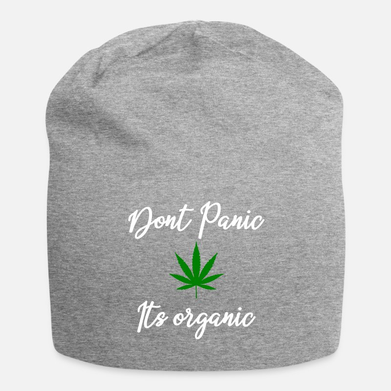 a7e4672fd17 Dont panic its organic white Beanie
