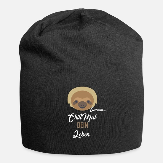 Bed Caps & Hats - Chill your life - Beanie black