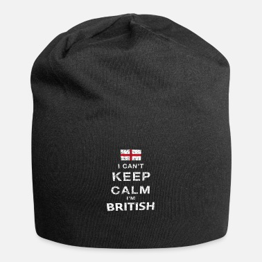 British Flag I can not stay calm .. I am British - Jersey Beanie