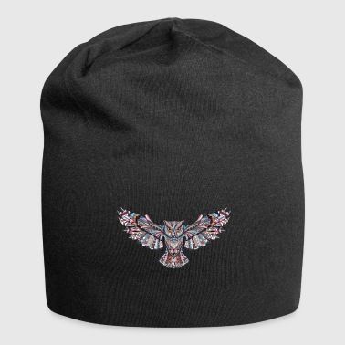 Tessellation Owl in mosaic - Jersey Beanie