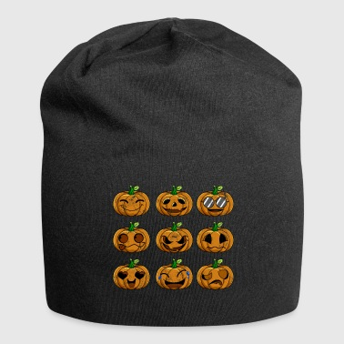 Halloween Pumpkin Emotions Retro - Jersey-beanie