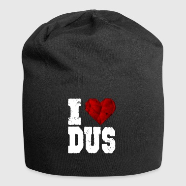 i love düsseldorf heart gift touristy love - Jersey Beanie