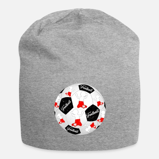National Team Caps & Hats - Poland Football Footballer Polska Football Footballer - Beanie heather grey