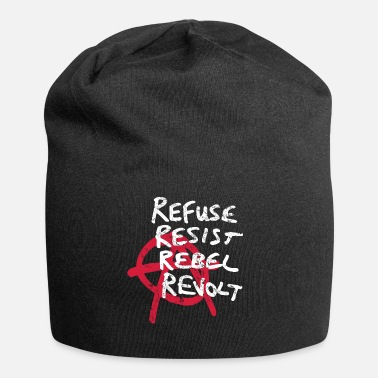 Rebellion Refusal, resistance, rebellion and rebellion - Jersey Beanie