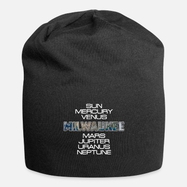 Milwaukee Sistema solare Milwaukee pianeta terra regalo - Beanie in jersey