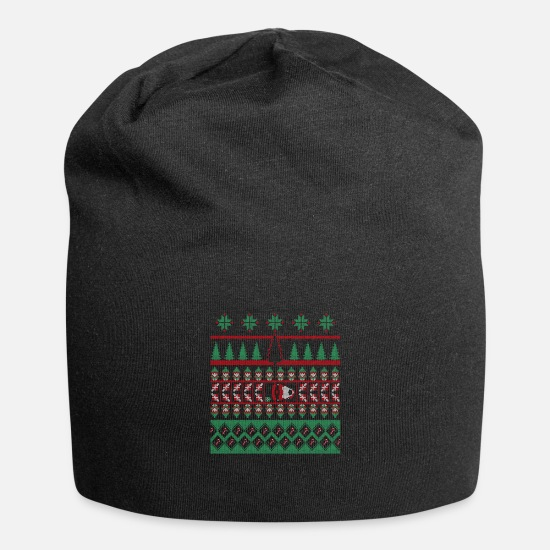 Ugly Christmas Caps & Hats - Ugly Cristmas - Beanie black