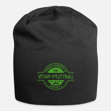 Beachvolley Regalo membro Vegan Volleyball Athlete Society Club - Beanie in jersey