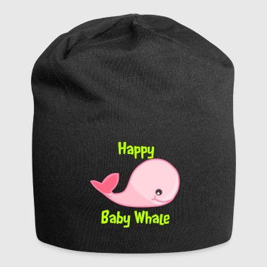 Happy Baby Whale Girl - Jersey-Beanie