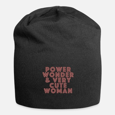 Officialbrands Power, Wonder & Very Cute Woman Frauen Geschenk - Beanie