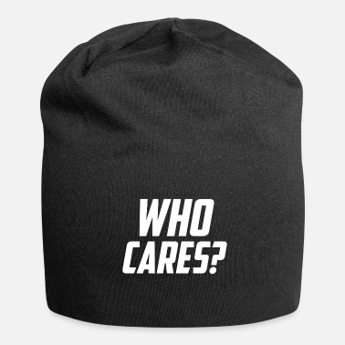 Slogan Who cares slogan slogan - Jersey-Beanie