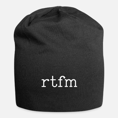 Linux rtfm read the fucking manual technician gift - Jersey Beanie