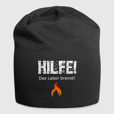 Laboratorium Help, het laboratorium staat in brand! / Chemie / laboratorium - Jersey-Beanie