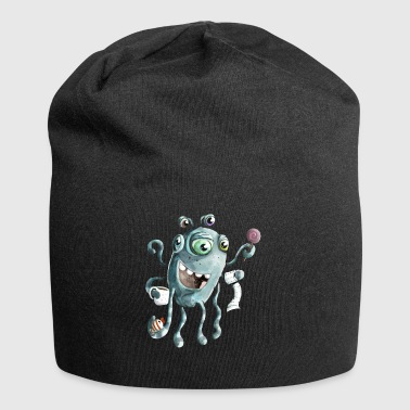 Funny monster of the deep sea - Jersey Beanie