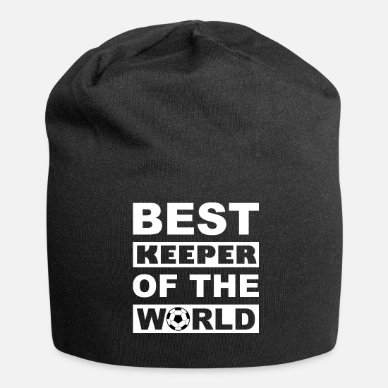 Birthday Caps & Hats - Best Keeper Of The World - Best Goalkeeper - Beanie black
