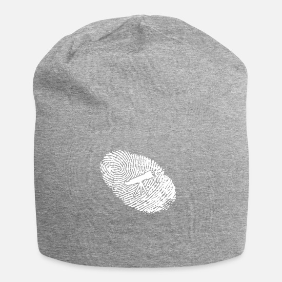 Astronomy Caps & Hats - fingerprint dna dns gift astronomy astronomy - Beanie heather grey