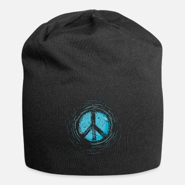 Peace Sign Global Peace Peace Sign War Peace Sign - Jersey Beanie