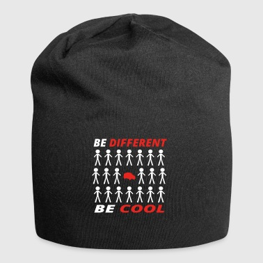 BE DIFFERENT anders cool geschenk rettungssanitaet - Jersey-Beanie