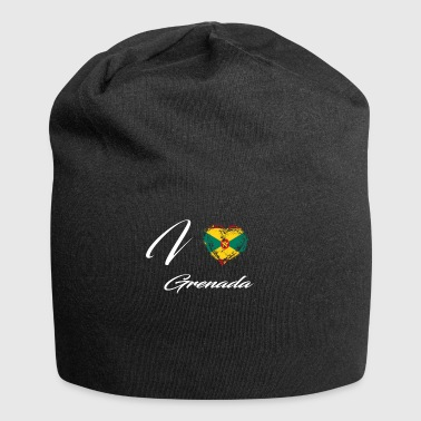 I Love Home Country Flag Roots Grenada - Jersey Beanie